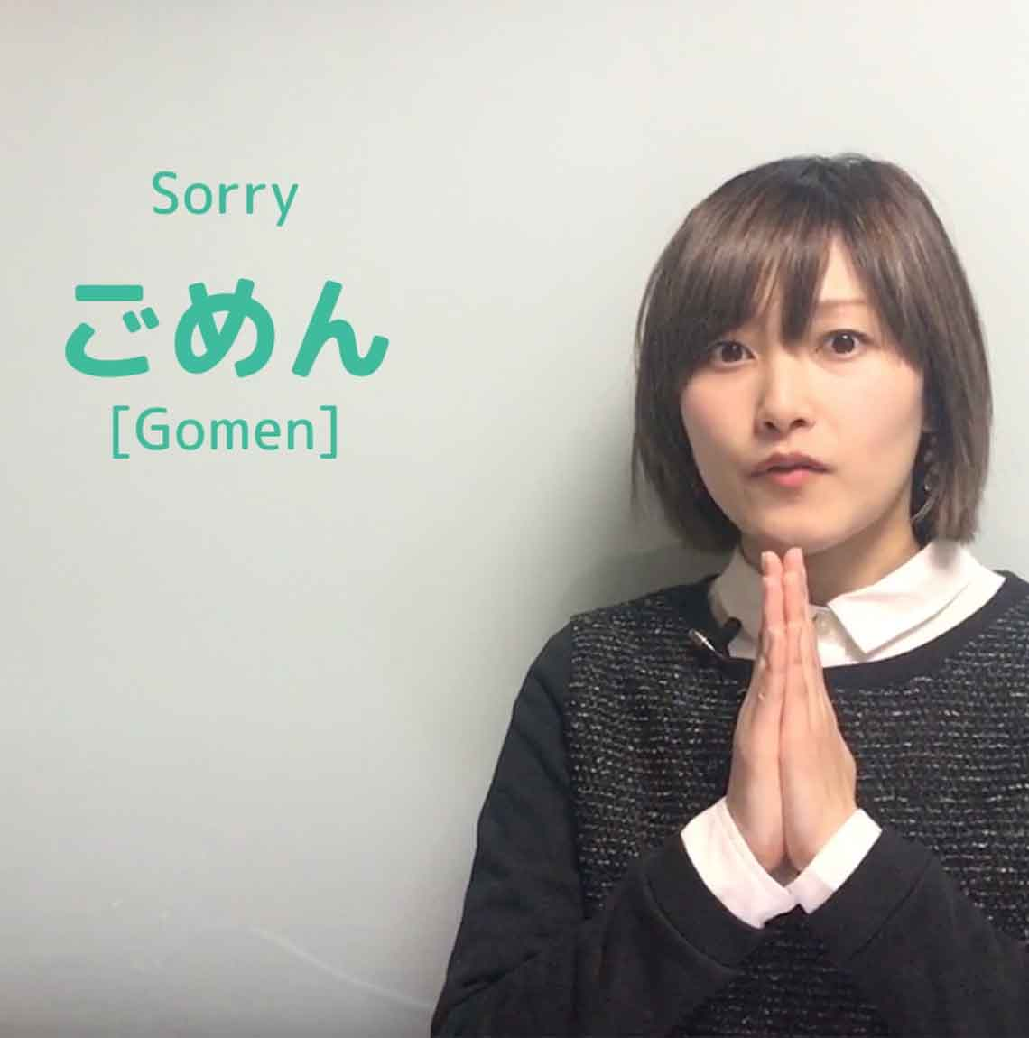 Japanese Phrases Greeting I Am Sorry Japanese